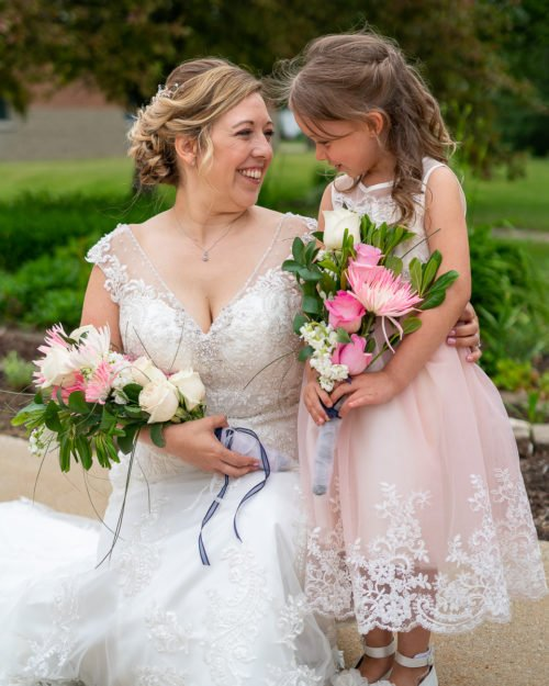Bride-and-flower-girl-wedding-photography-1