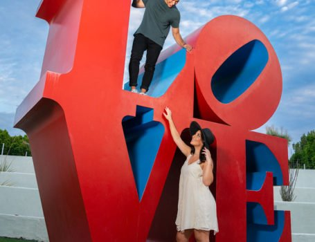engagement-photography-scottsdale-love-sculpture