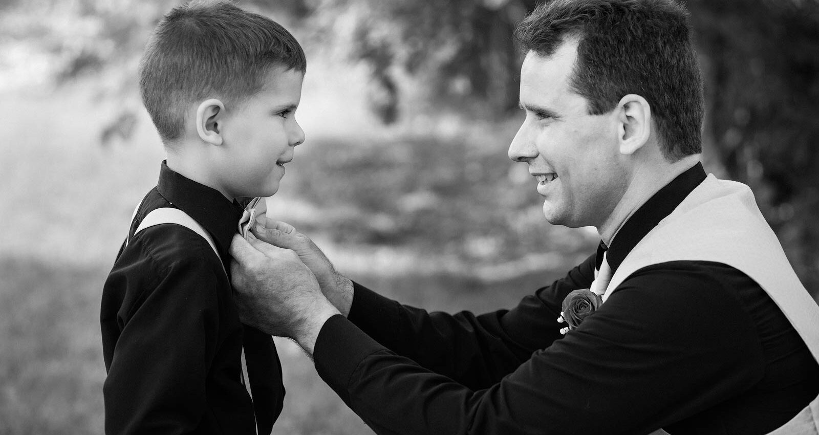 Wedding Photography - Father Helping Son Get Ready - Paul Dekort Photographer